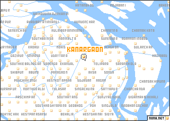 map of Kānargaon