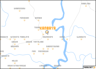 map of Kanbaya