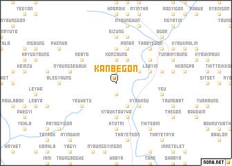 map of Kanbegon