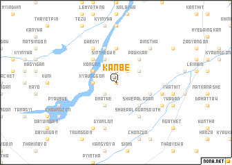 map of Kanbe