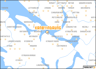 map of Kanbyindaung