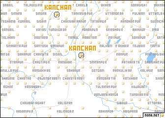 map of Kānchan