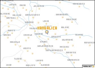 map of Kandalica