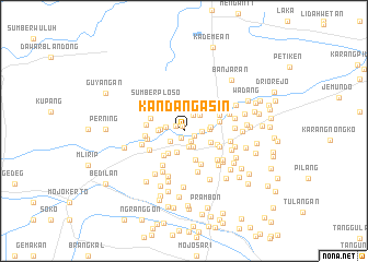 map of Kandangasin