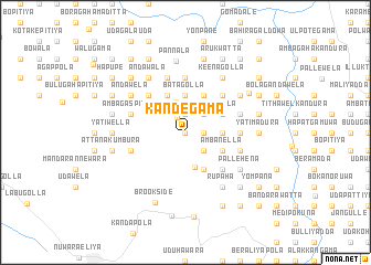 map of Kandegama