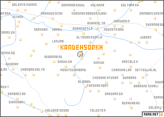 map of Kandeh Sorkh