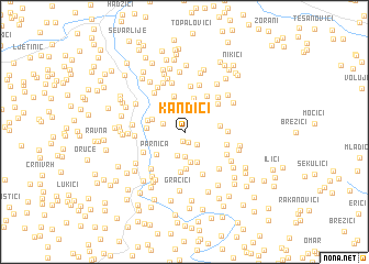 map of Kandići