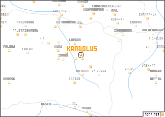 map of Kandolūs