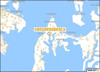 map of Kangaroo Beach