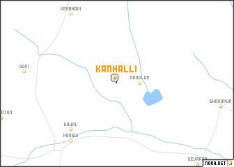 map of Kanhalli