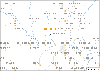 map of Kanhle