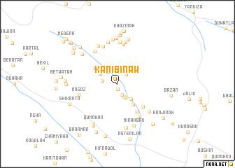 map of Kānī Bināw