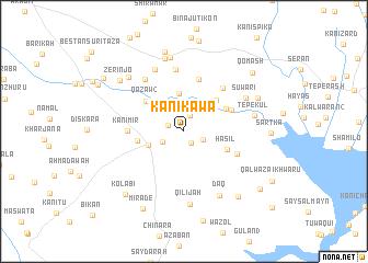 map of Kānī Kawa