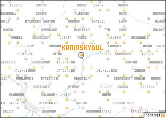map of Kaninský Dŭl