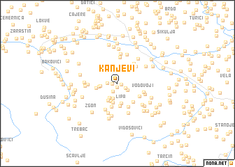 map of Kanjevi