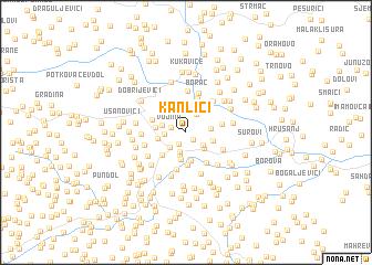 map of Kanlići