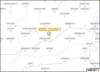 map of Kanlıgüney