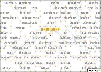 map of Kanndorf
