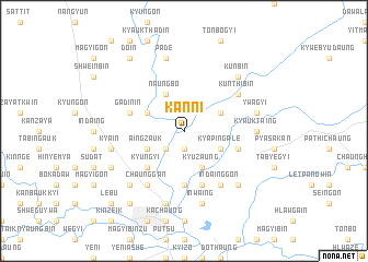 map of Kanni
