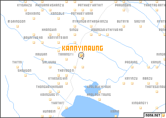 map of Kannyi-naung