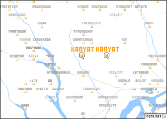 map of Kanyat