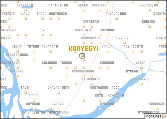 map of Kanyegyi