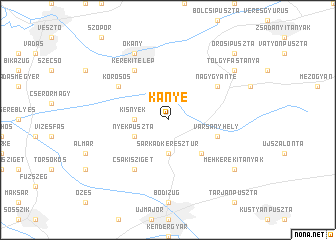 map of Kányé