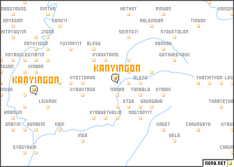map of Kanyin-gôn