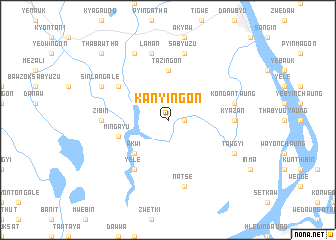 map of Kanyingon