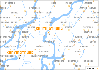 map of Kanyingyaung