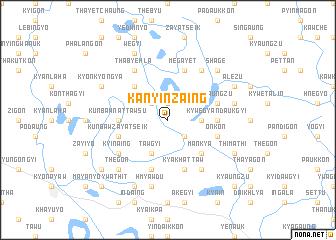 map of Kanyinzaing