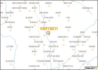 map of Kanyogyi