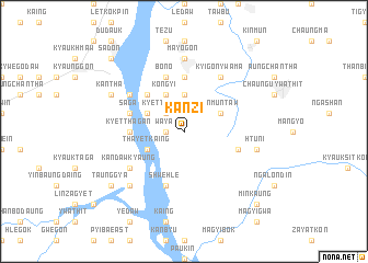 map of Kanzi