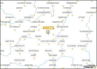 map of Kanzu