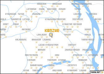 map of Kanzwe