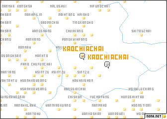 map of Kaochia Chai