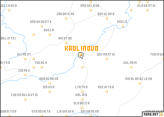 map of Kaolinovo