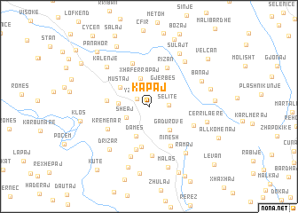 map of Kapaj