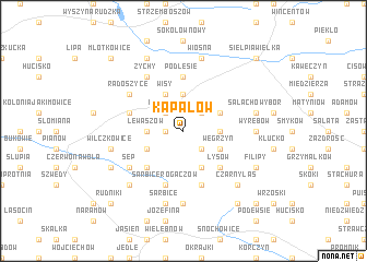 map of Kapałów