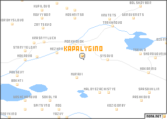 map of Kapalygino