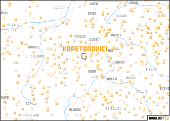 map of Kapetanovići