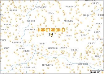 map of Kapetanovići