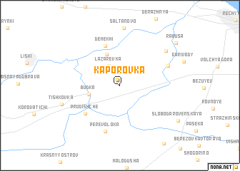 map of Kaporovka