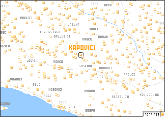 map of Kapovići