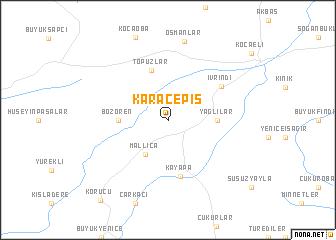 map of Karaçepiş