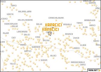 map of Karačići