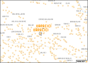 map of Karačići
