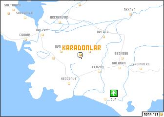 map of Karadonlar