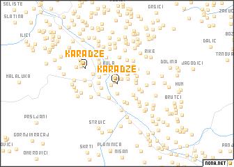 map of Karadže