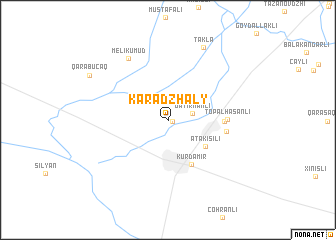 map of Karadzhaly